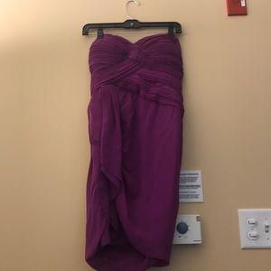 Fuscia strapless dress